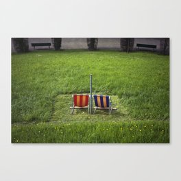Swiss Seats Canvas Print