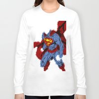 man of steel Long Sleeve T-shirts featuring Man Of Steel by alsalat