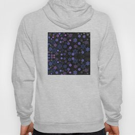 Christmas Snowflakes at Night Hoody