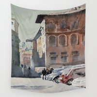 roman Wall Tapestries featuring Roman Holidays by Andrey Esionov
