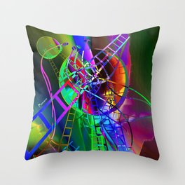 Let's go there II Throw Pillow