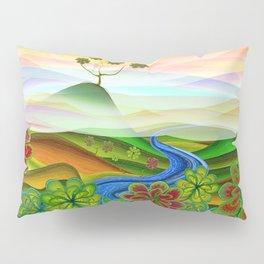 Foggy flower valley Pillow Sham