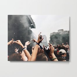MIDDLE FINGERS IN THE AIR Metal Print