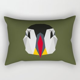 Geometric Puffin (Realistic) Rectangular Pillow