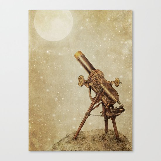 Moonrise (sepia option) Canvas Print