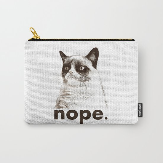 GRUMPY CAT - Nope (version 2) Carry-All Pouch