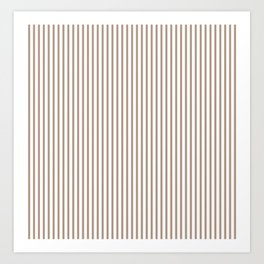 Warm Taupe Stripes Art Print