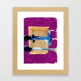 Book Report Framed Art Print