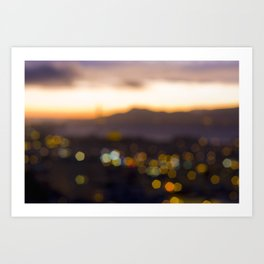 Sparkles at Sunset Art Print