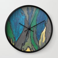 camo Wall Clocks featuring Camo by Kristin Rodgers