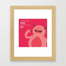 FATTY valentine's day Framed Art Print