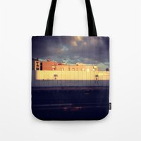 queens of the stone age Tote Bags featuring Queens by Alissa Fleck
