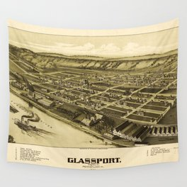 Aerial View of Glassport, Pennsylvania (1902) Wall Tapestry