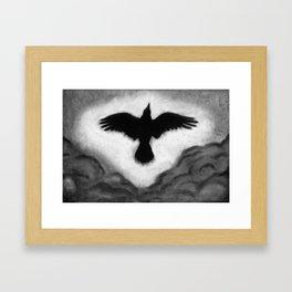 Flight of the Crow Framed Art Print