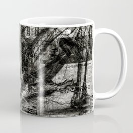 Breaking Loose - Charcoal on Newspaper Figure Drawing Coffee Mug
