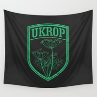 ukraine Wall Tapestries featuring Ukrop by Sitchko Igor