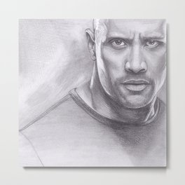 Dwayne Johnson - The Rock Metal Print
