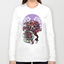 Snake In The Grass... Or Hair Long Sleeve T-shirt