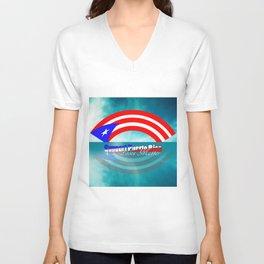 Support Puerto Rico Unisex V-Neck