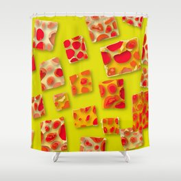 red spotted rectangles Shower Curtain