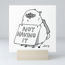 Not Having It - Angry Pug Mini Art Print