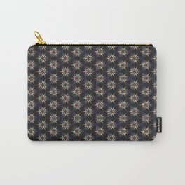 Floral Texture Carry-All Pouch