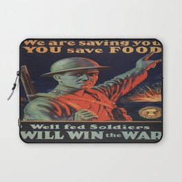 Vintage poster - Food Rationing Laptop Sleeve