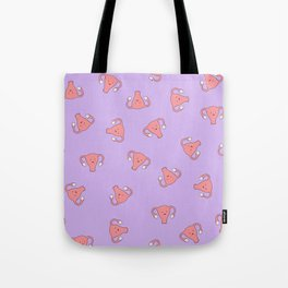 Crazy Happy Uterus in Purple, Large Tote Bag
