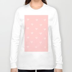 White hearts watercolor Long Sleeve T-shirt