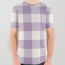 Lavender Gingham All Over Graphic Tee