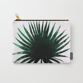 Round Palm Leaf Carry-All Pouch