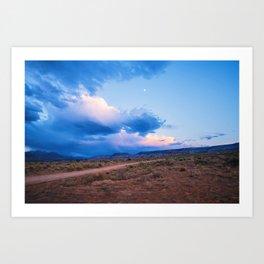 Desert Camp Sunset Art Print