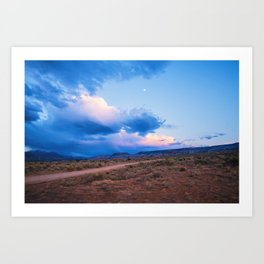 Desert Camp Sunset Art Print