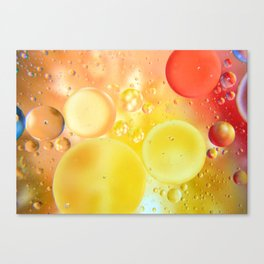 Oily bubbles Canvas Print