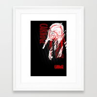 carnage Framed Art Prints featuring CARNaGE by Psychojoe151