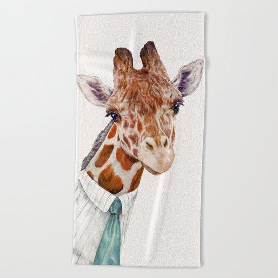 Mr Giraffe Beach Towel