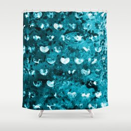 Abstract Hearts II Shower Curtain