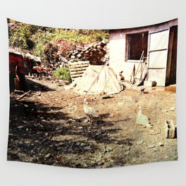 Vintage little farm house Wall Tapestry