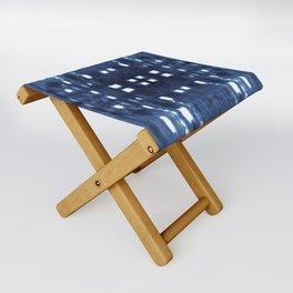 Shibori City Blue Folding Stool