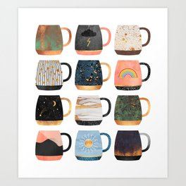 Coffee Cup Collection 2 Art Print