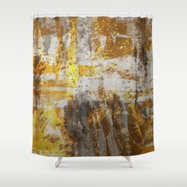 Abstract 20 - Study In Bronze Shower Curtain