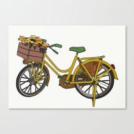 A Bike in Amsterdam Canvas Print