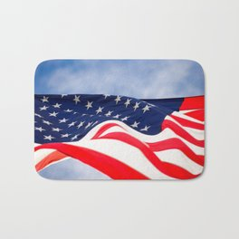 Its a grand ol flag waving in the breeze on a beautiful Memorial Day Bath Mat