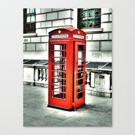 Vintage Phonebox Canvas Print