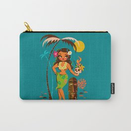 Tiki Temptress • With Skull Mug Cocktail Carry-All Pouch