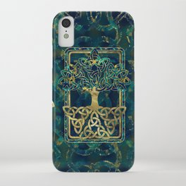 Tree of life - Yggdrasil with Triquetra  symbols iPhone Case