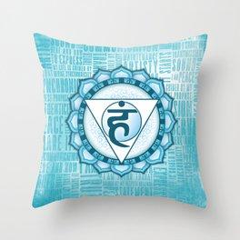Throat Chakra Throw Pillow