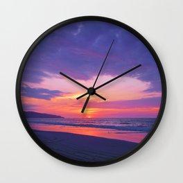 Broken sunset by #Bizzartino Wall Clock