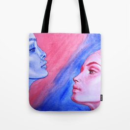 Red Meets Blue Tote Bag