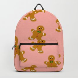 Gingerbread Man Cookie Seamless Pattern Design - Christmas Surface Print Backpack